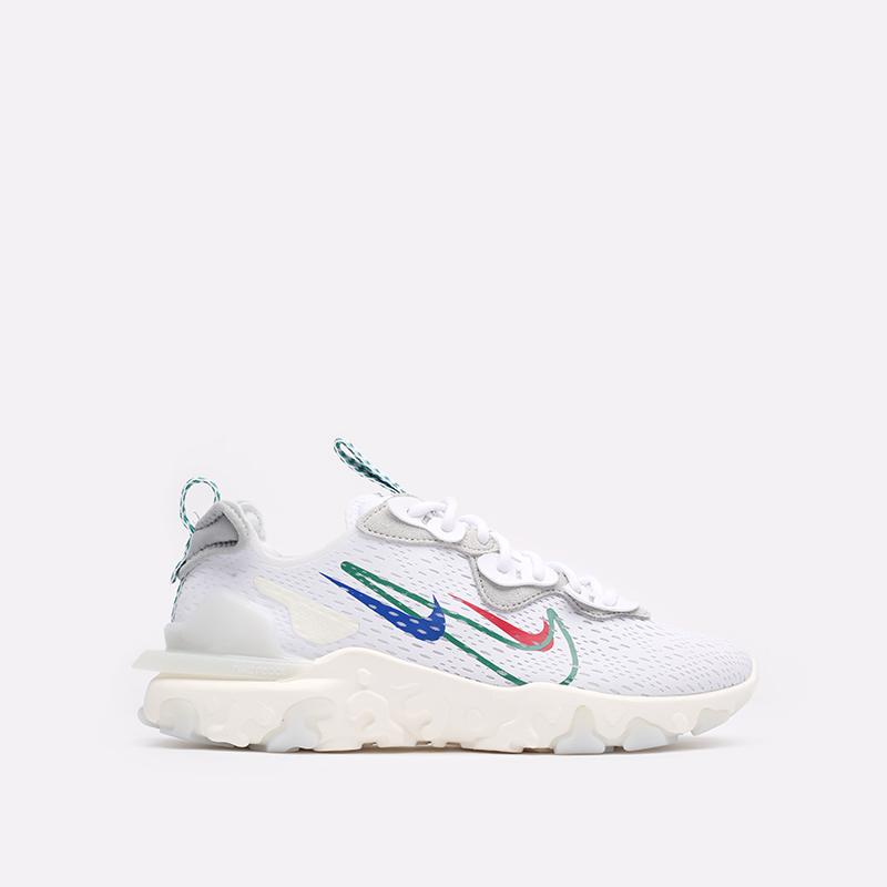 мужские белые  кроссовки nike react vision DM9095-100 - цена, описание, фото 1