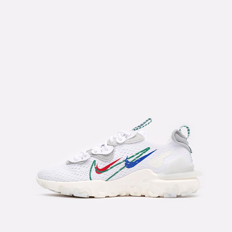мужские белые  кроссовки nike react vision DM9095-100 - цена, описание, фото 2