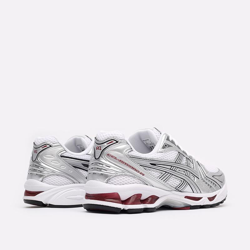 мужские белые  кроссовки asics gel-kayano 14 1201A019-104 - цена, описание, фото 3