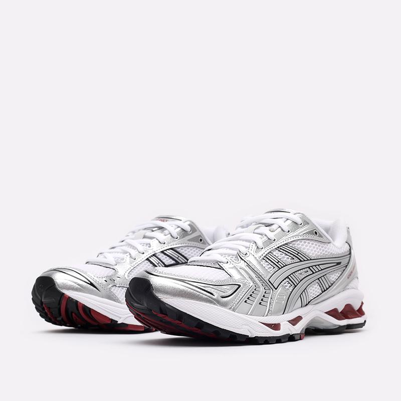 мужские белые  кроссовки asics gel-kayano 14 1201A019-104 - цена, описание, фото 4
