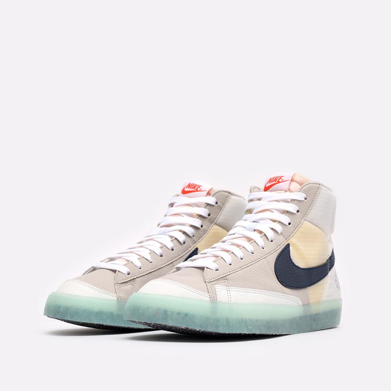 мужские бежевые кроссовки Nike Blazer Mid '77 DH4505-200 - цена, описание, фото 4