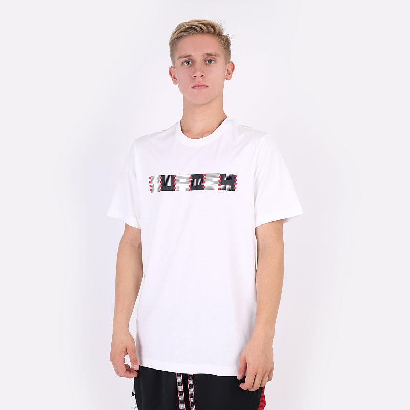 мужскую белую  футболка jordan quai 54 tee DM0758-100 - цена, описание, фото 1