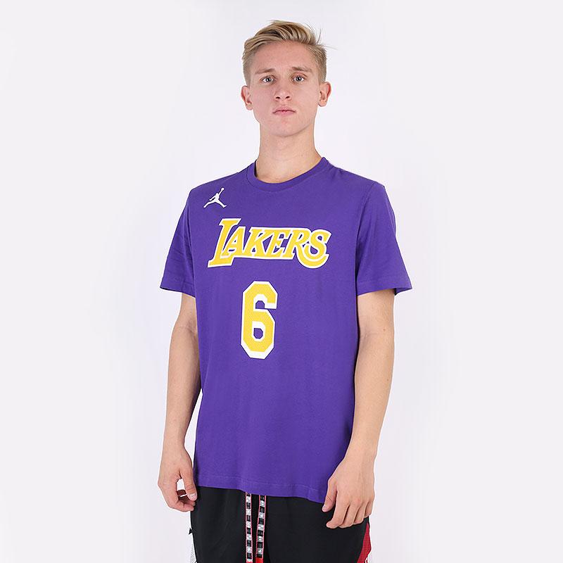 мужская фиолетовая футболка Jordan Los Angeles Lakers Statement Edition Tee CV9986-557 - цена, описание, фото 1
