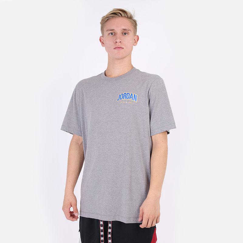 мужская серая футболка Jordan Jumpman Graphic Crew Tee DM3217-091 - цена, описание, фото 1