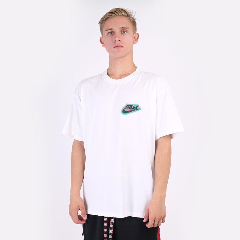 мужскую белую  футболка jordan giannis `freak` premium basketball t-shirt DJ1562-100 - цена, описание, фото 1