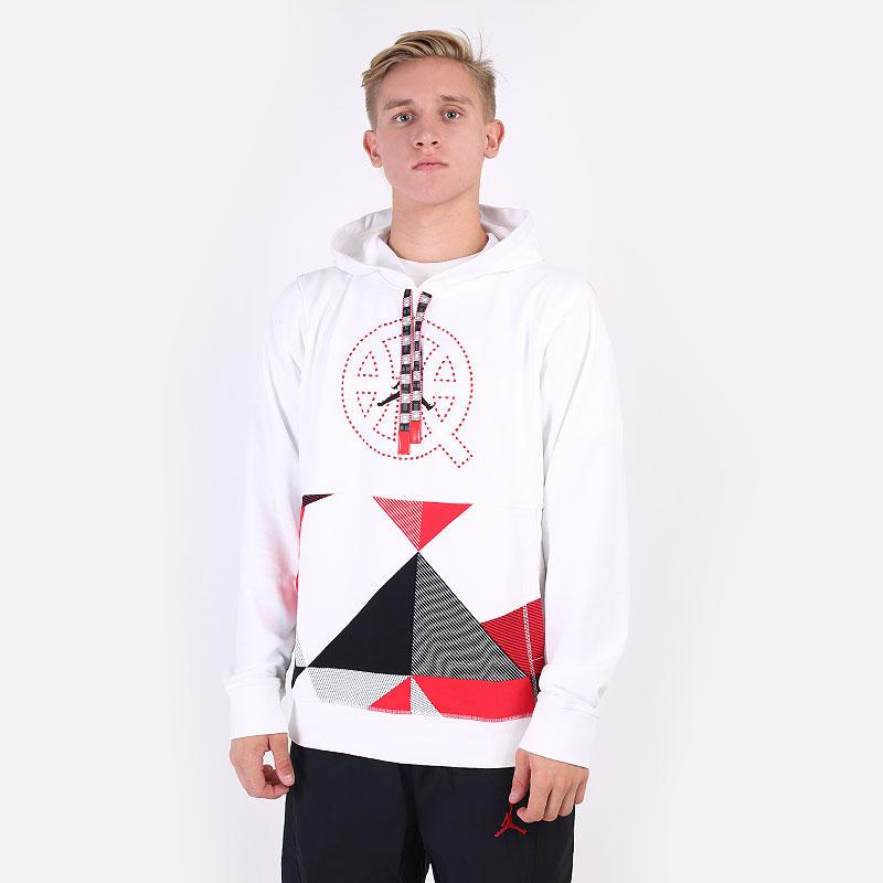 мужскую белую  толстовка jordan quai 54 fleece pullover hoodie DM0757-100 - цена, описание, фото 1