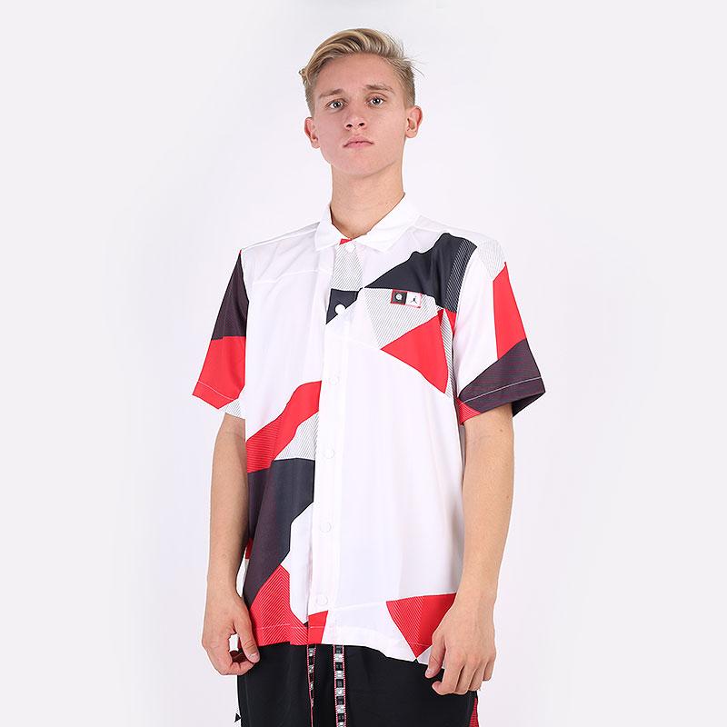 мужскую белую  рубашку jordan quai 54 printed shooting top DM0754-100 - цена, описание, фото 1