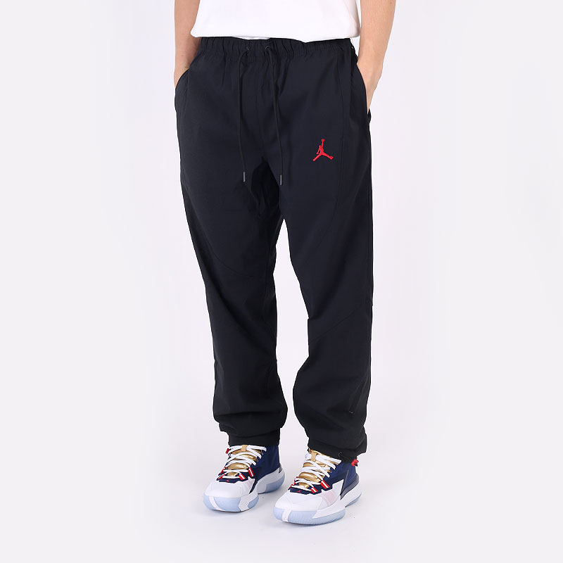 мужские черные  брюки jordan essential woven trousers DA9834-010 - цена, описание, фото 1