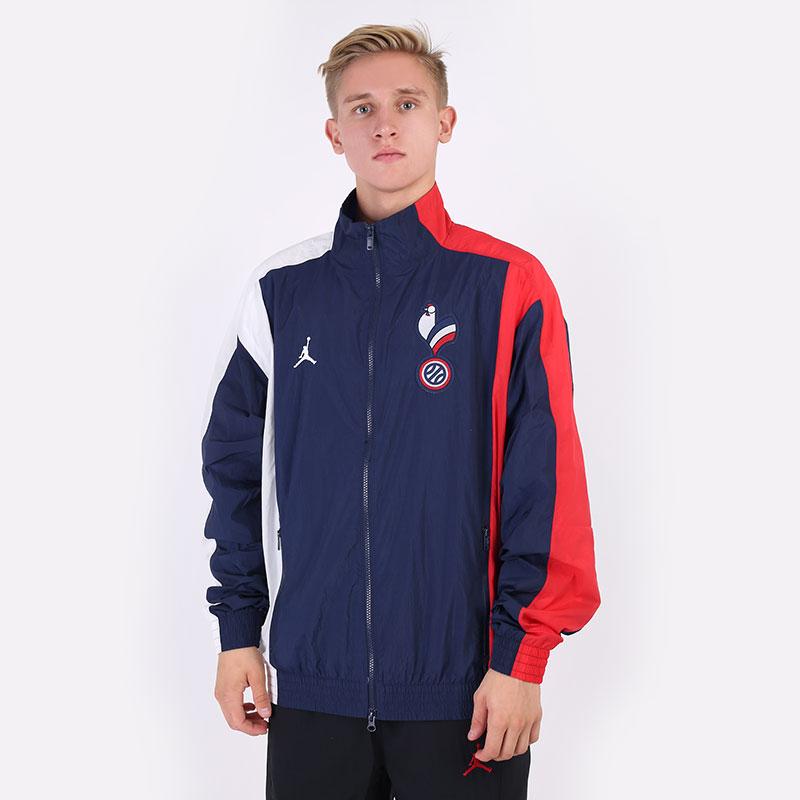 мужскую синюю  куртку jordan france tracksuit jacket CT2191-419 - цена, описание, фото 1