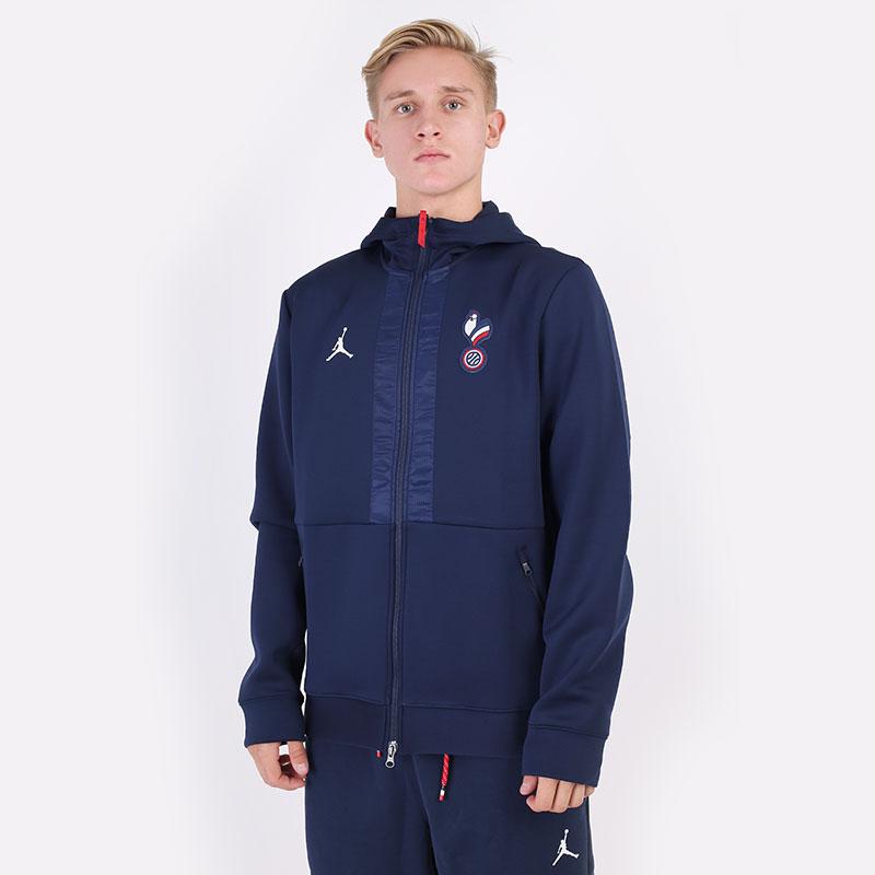 мужская синяя толстовка Jordan France Game Jacket CT2184-419 - цена, описание, фото 1