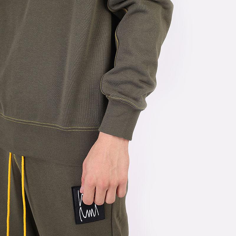 мужскую зеленую  толстовка puma pivot crew 53210801 - цена, описание, фото 5