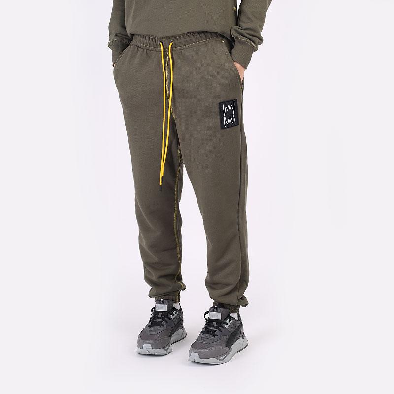мужские зеленые  брюки puma pivot pant 53211001 - цена, описание, фото 1