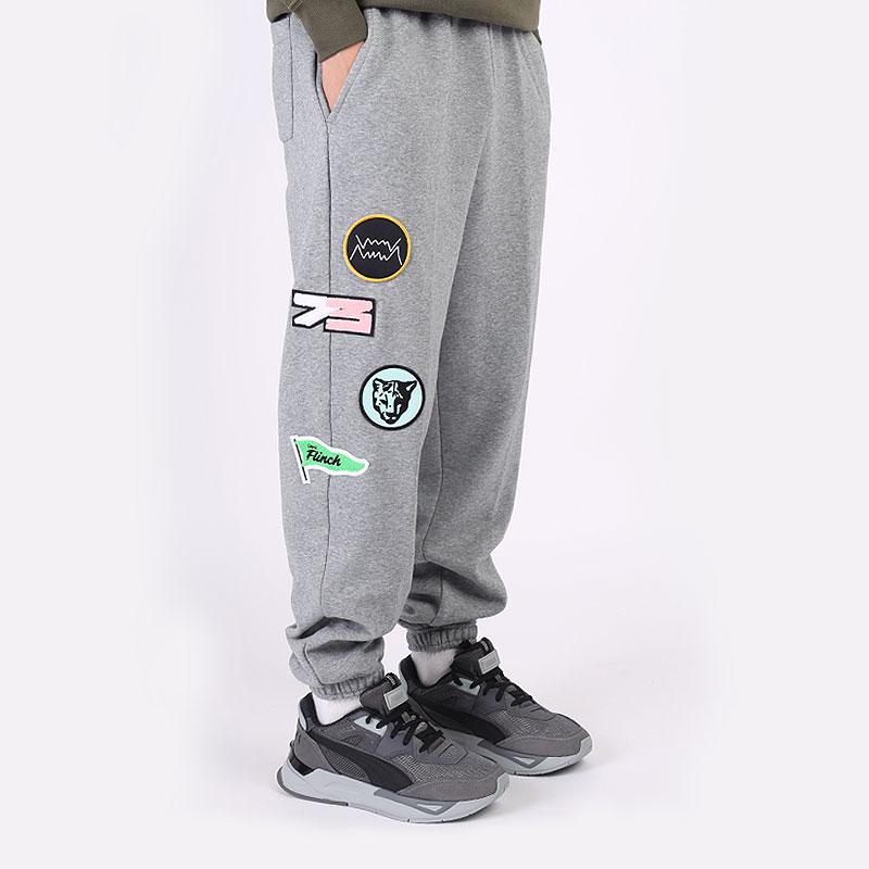 мужские серые брюки PUMA Combine Pant 53210303 - цена, описание, фото 4