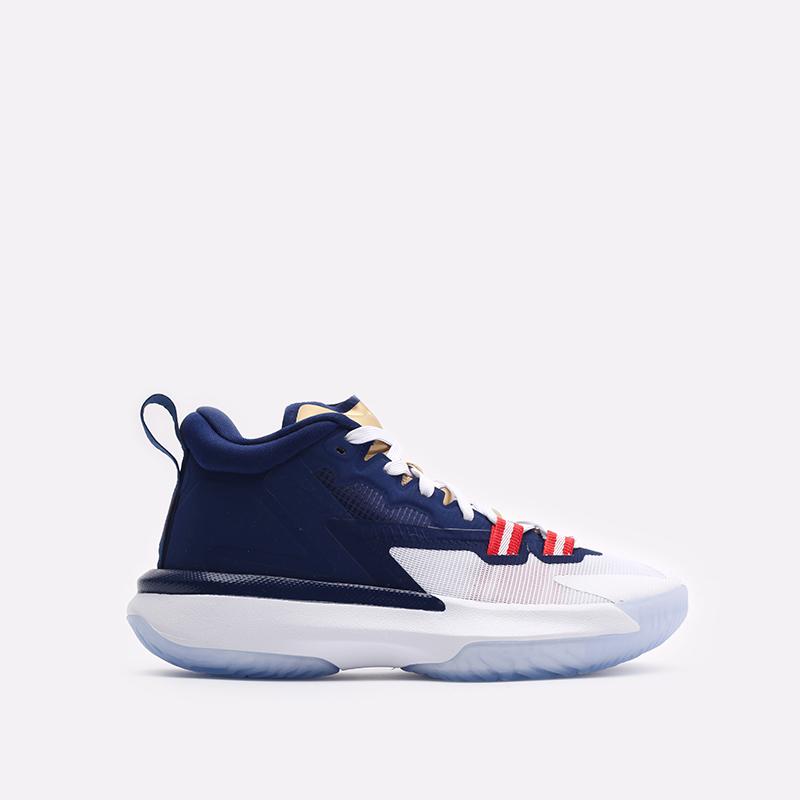 женские синие баскетбольные кроссовки Jordan Zion 1 (GS) DA3131-401 - цена, описание, фото 1