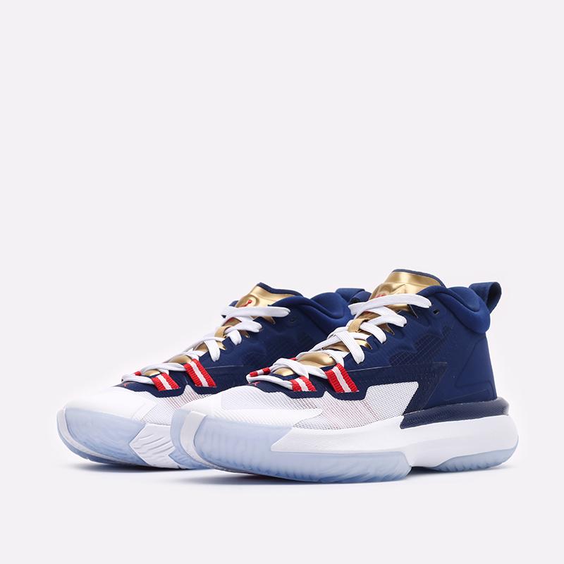 женские синие баскетбольные кроссовки Jordan Zion 1 (GS) DA3131-401 - цена, описание, фото 4