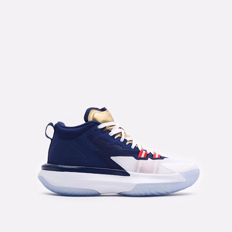 мужские синие баскетбольные кроссовки Jordan Zion 1 DA3130-401 - цена, описание, фото 1