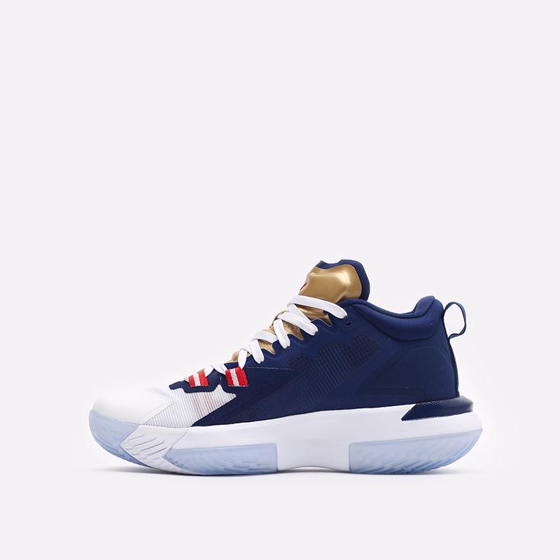 мужские синие баскетбольные кроссовки Jordan Zion 1 DA3130-401 - цена, описание, фото 2