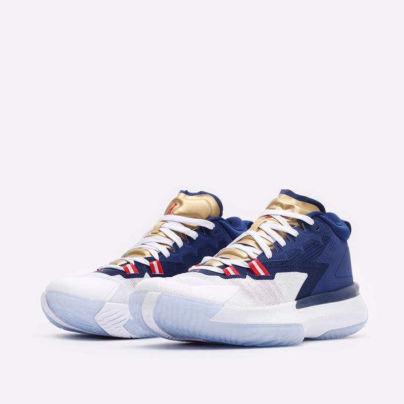 мужские синие баскетбольные кроссовки Jordan Zion 1 DA3130-401 - цена, описание, фото 4