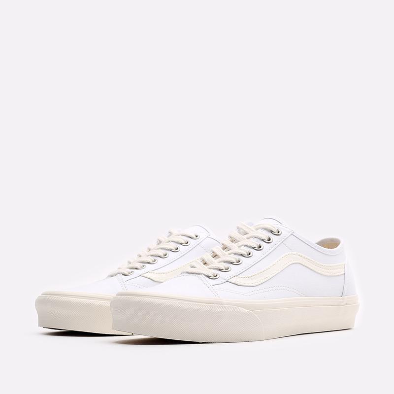 мужские белые  кроссовки vans eco theory old skool tapered VA54F49FQM - цена, описание, фото 4