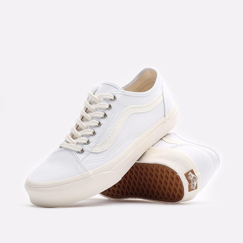 мужские белые  кроссовки vans eco theory old skool tapered VA54F49FQM - цена, описание, фото 2