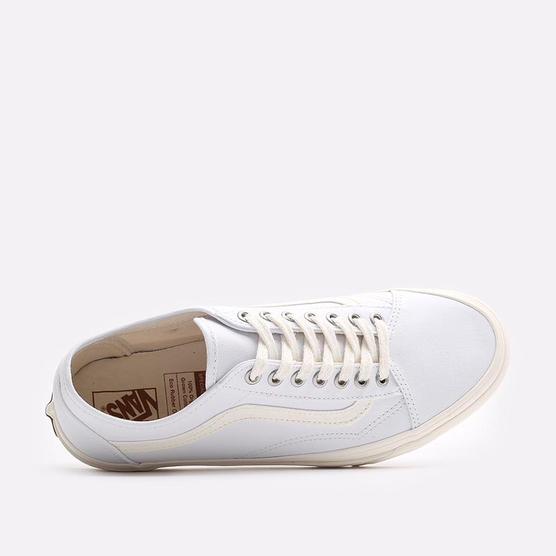 мужские белые  кроссовки vans eco theory old skool tapered VA54F49FQM - цена, описание, фото 5