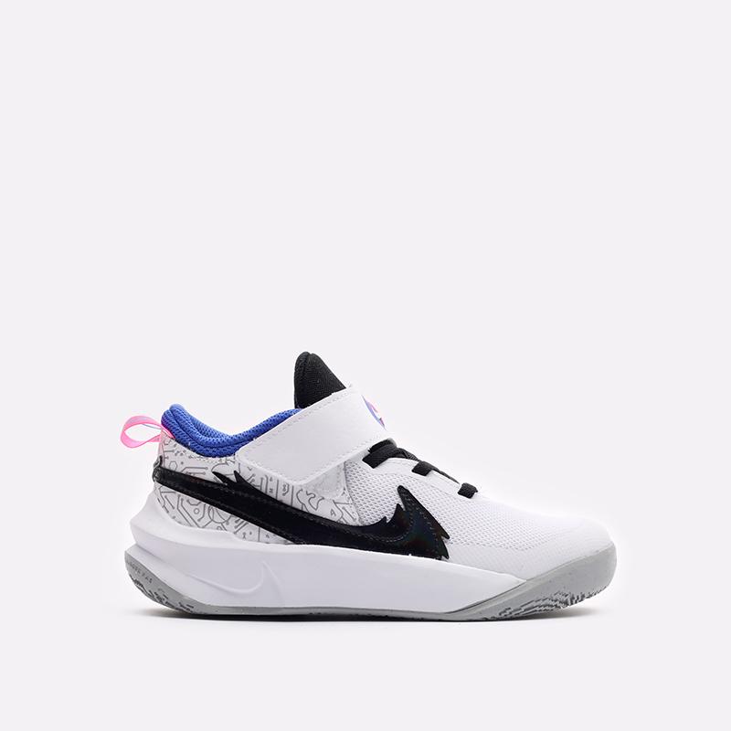 детские белые баскетбольные кроссовки Nike Team Hustle D 10 SE (PS) DH8055-100 - цена, описание, фото 1