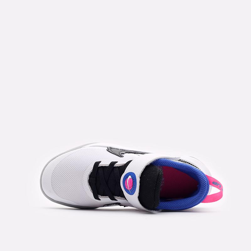 детские белые баскетбольные кроссовки Nike Team Hustle D 10 SE (PS) DH8055-100 - цена, описание, фото 6