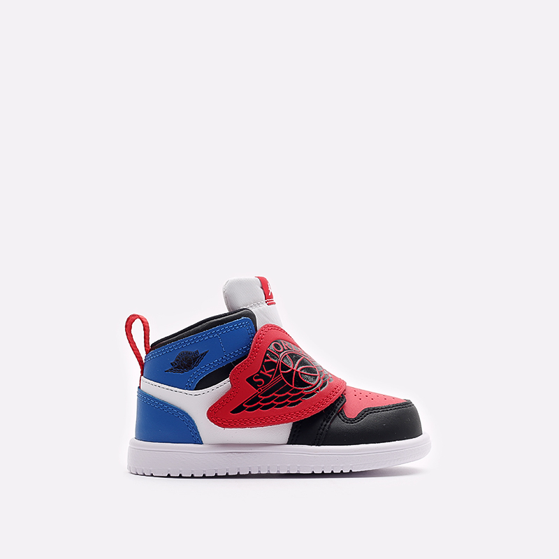 детские чёрные, красные, синие  кроссовки jordan sky 1 (td) BQ7196-104 - цена, описание, фото 1