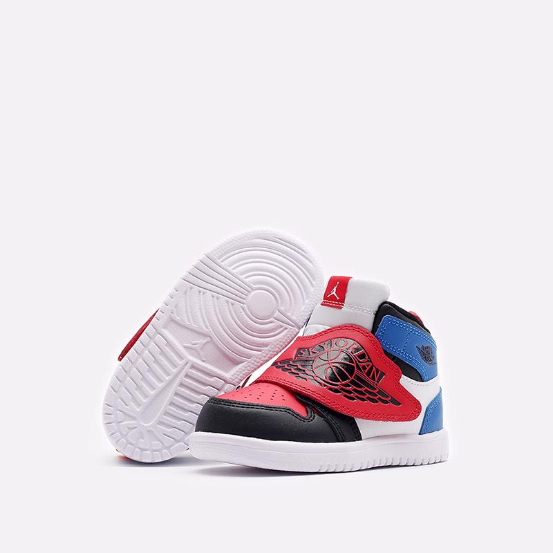 детские чёрные, красные, синие  кроссовки jordan sky 1 (td) BQ7196-104 - цена, описание, фото 6