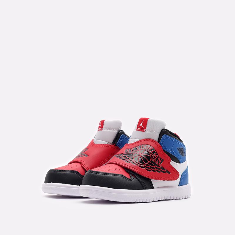 детские чёрные, красные, синие  кроссовки jordan sky 1 (td) BQ7196-104 - цена, описание, фото 4