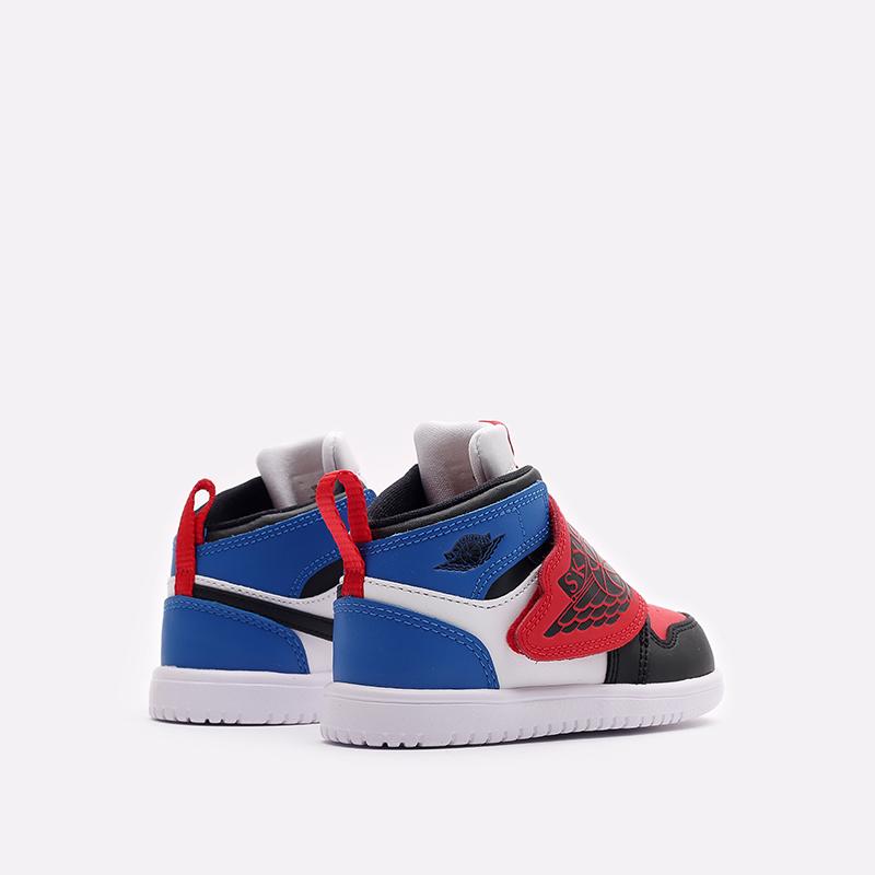 детские чёрные, красные, синие  кроссовки jordan sky 1 (td) BQ7196-104 - цена, описание, фото 3