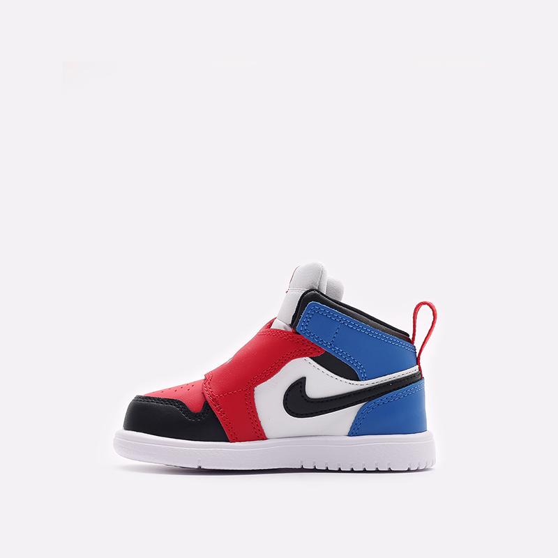 детские чёрные, красные, синие  кроссовки jordan sky 1 (td) BQ7196-104 - цена, описание, фото 2