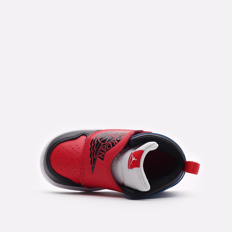 детские чёрные, красные, синие  кроссовки jordan sky 1 (td) BQ7196-104 - цена, описание, фото 5