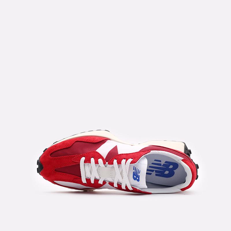мужские красные, белые  кроссовки new balance 327 C-MS327LD1/D - цена, описание, фото 6
