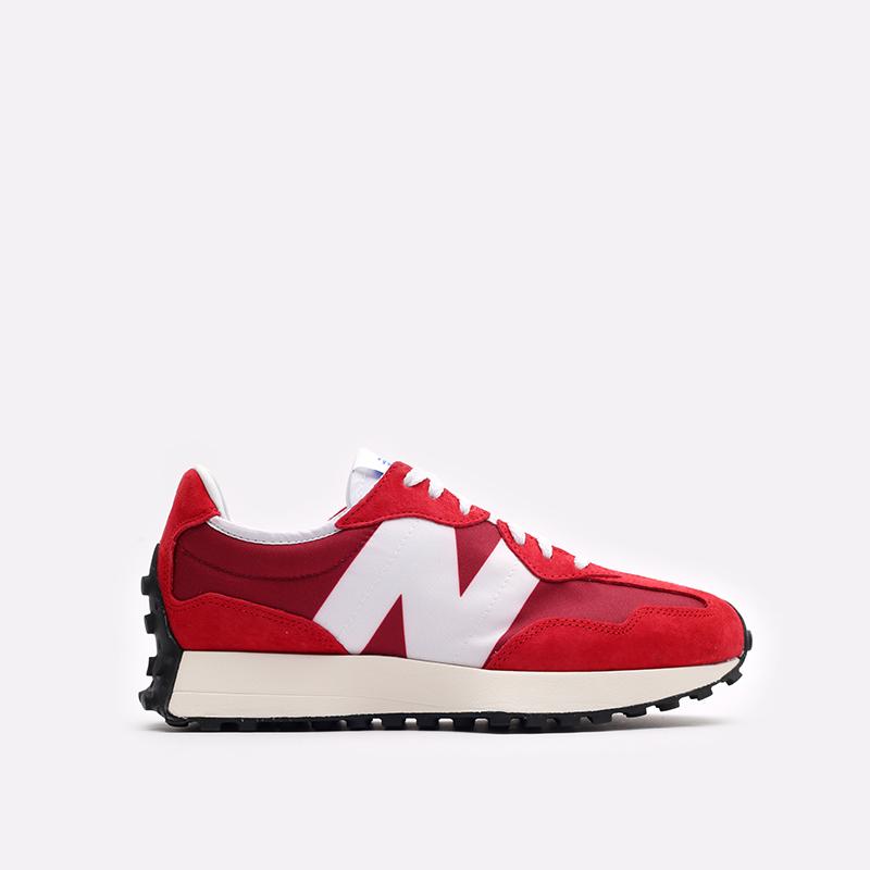 мужские красные, белые  кроссовки new balance 327 C-MS327LD1/D - цена, описание, фото 1
