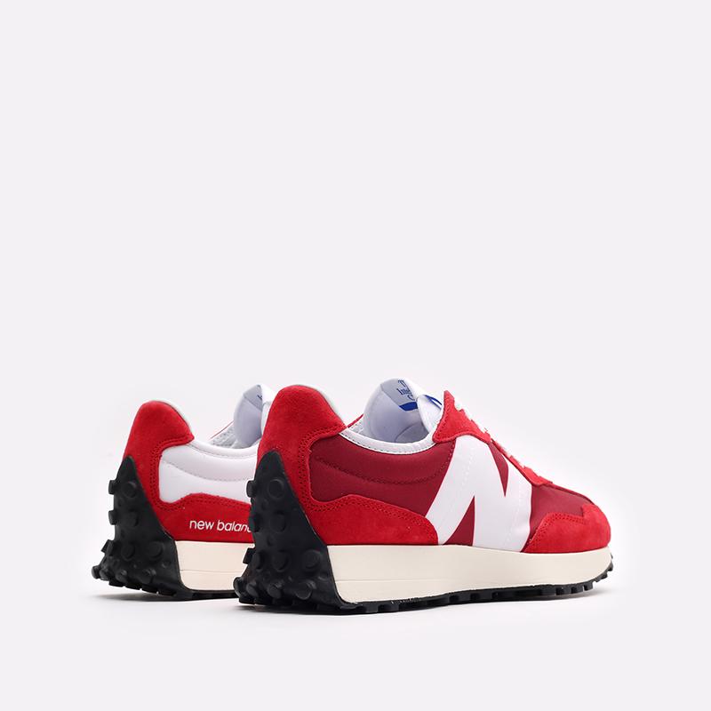 мужские красные, белые  кроссовки new balance 327 C-MS327LD1/D - цена, описание, фото 3