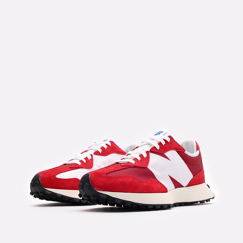 мужские красные, белые  кроссовки new balance 327 C-MS327LD1/D - цена, описание, фото 4