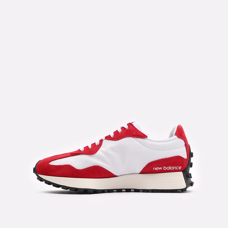 мужские красные, белые  кроссовки new balance 327 C-MS327LD1/D - цена, описание, фото 2