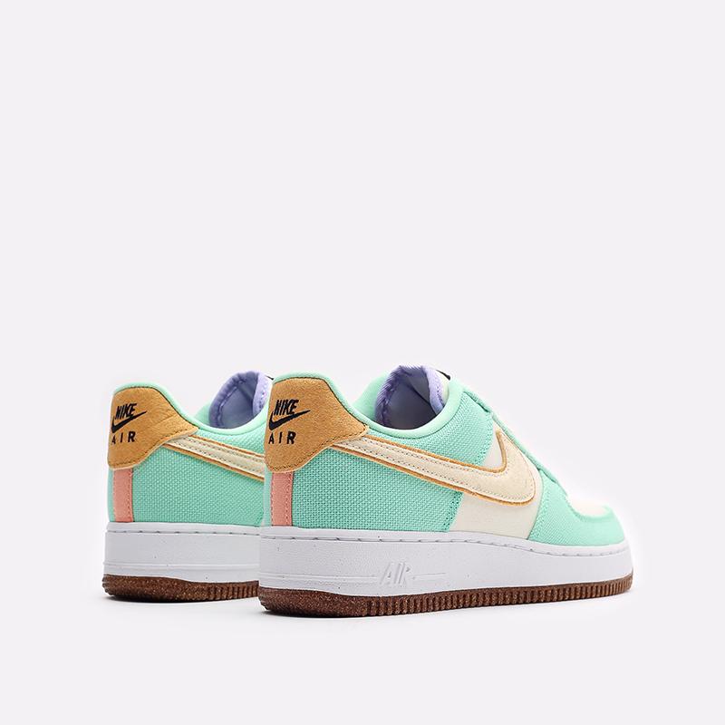 женские зеленые кроссовки Nike WMNS Air Force 1 '07 LX CZ0268-300 - цена, описание, фото 3