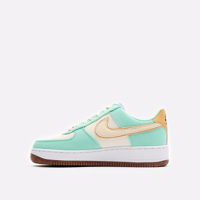 женские зеленые кроссовки Nike WMNS Air Force 1 '07 LX CZ0268-300 - цена, описание, фото 2