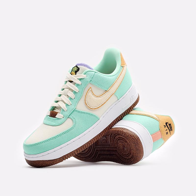 женские зеленые кроссовки Nike WMNS Air Force 1 '07 LX CZ0268-300 - цена, описание, фото 7
