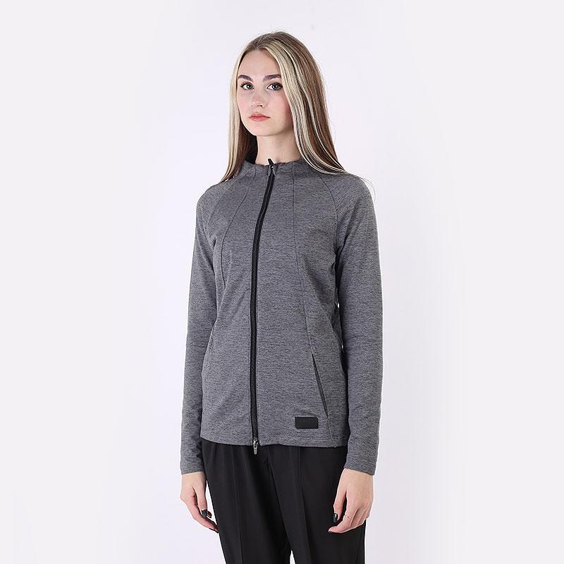 женскую серую  толстовка puma cloudspun w warm jacket 59585001 - цена, описание, фото 1