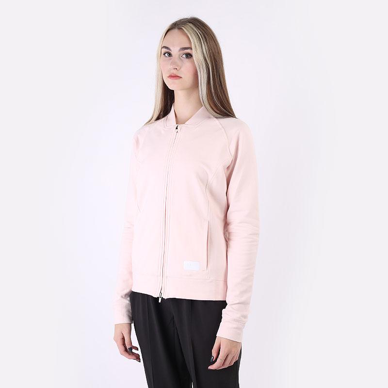 женскую розовую  толстовка puma w bomber jacket 59584504 - цена, описание, фото 1