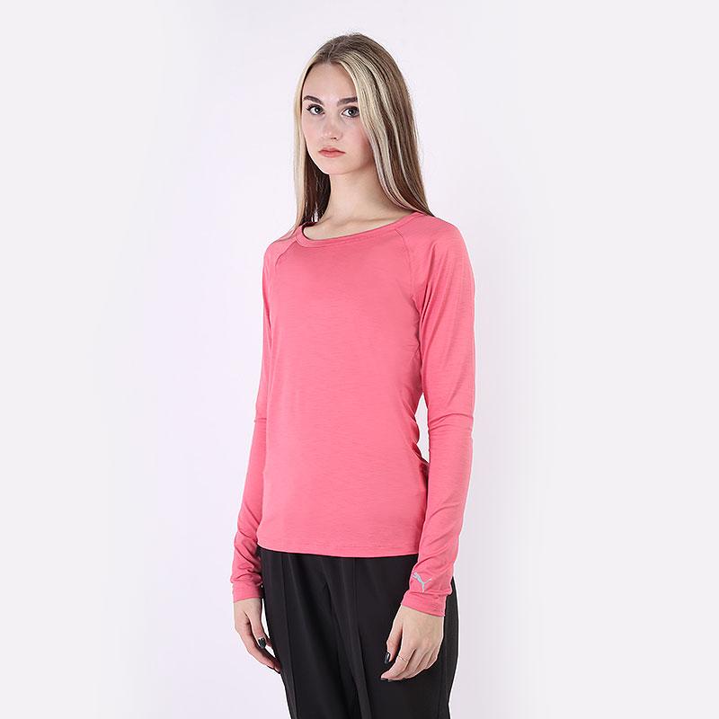 женский розовый  лонгслив puma w ls sun crew 57790105 - цена, описание, фото 1