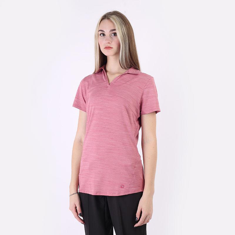 женский розовый  поло puma cloudspun free polo 59769503 - цена, описание, фото 1