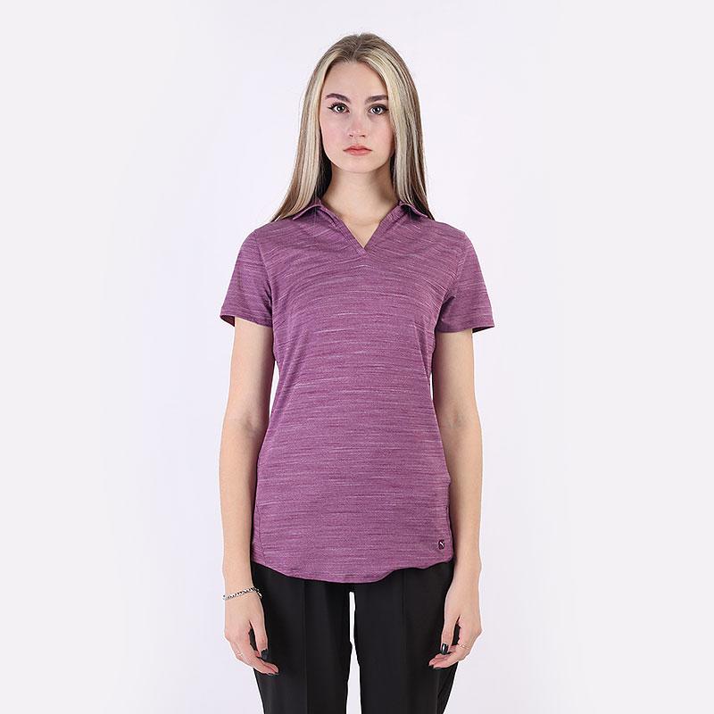 женский фиолетовый  поло puma cloudspun free polo 59769502 - цена, описание, фото 3