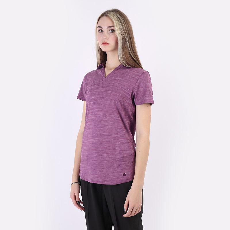 женский фиолетовый  поло puma cloudspun free polo 59769502 - цена, описание, фото 1