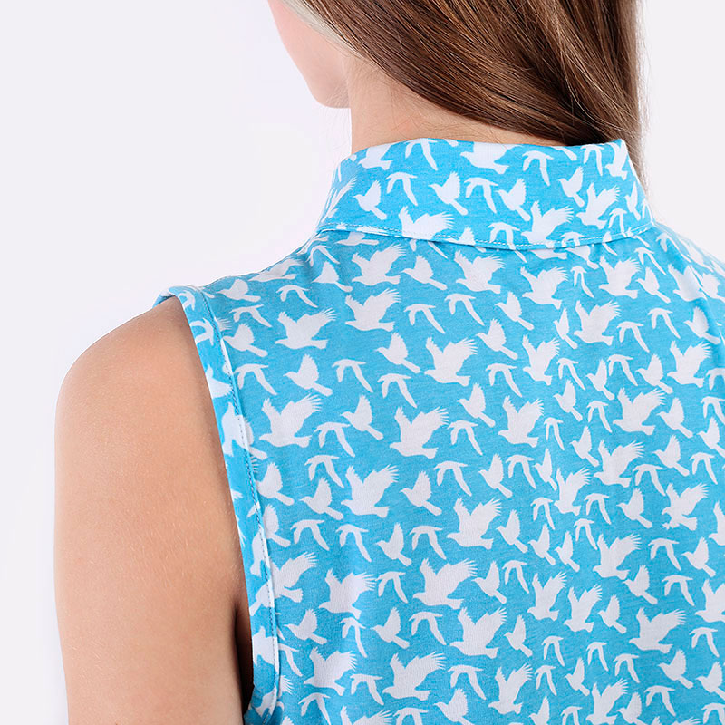 женский голубой  поло puma flight sleeveless polo 59583203 - цена, описание, фото 6