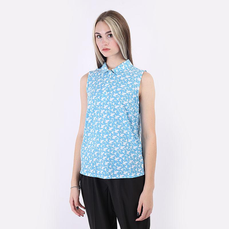 женский голубой  поло puma flight sleeveless polo 59583203 - цена, описание, фото 1