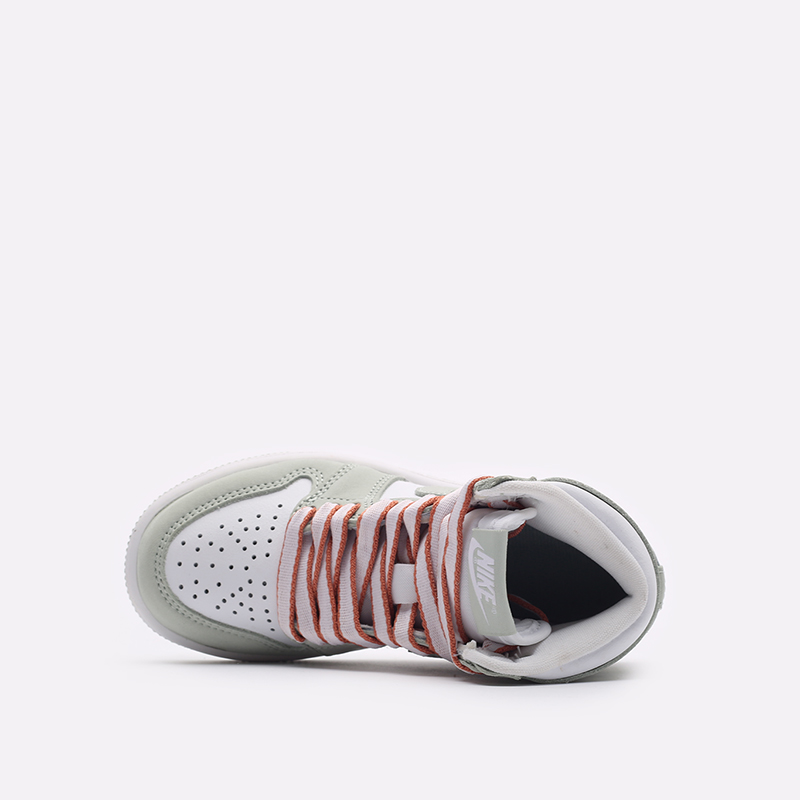 детские серые, белые  кроссовки jordan 1 high og (ps) CU0449-002 - цена, описание, фото 6